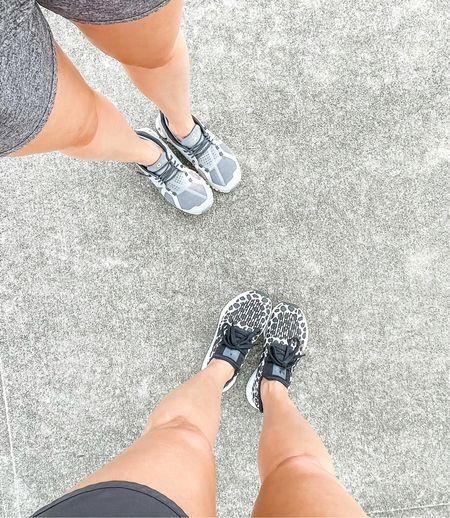 Black and white leopard adidas. Women's on cloud running shoe. Sneakers.   #LTKshoecrush #LTKunder100 #LTKfit