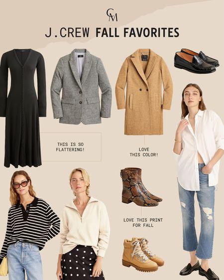 J.Crew fall favorites. Fall essentials from J.Crew. Many on sale!   #LTKsalealert #LTKshoecrush
