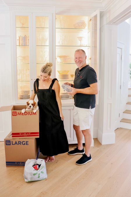 It's official - We've started to pack up the house! 📦😳 It doesn't feel real just yet... but we are more than excited to have Maggie be the cutest beach pup around. 🏝 We personally enjoy packing the house ourselves (we always have) because it gives us time to look at all the special pieces we've acquired through the years and reflect on the wonderful memories we've spent here. ☀️🌈 The best part of packing this time around is that we received all of our moving supplies & boxes with free delivery from our store (and pick-up) with our Walmart+ membership ($35 minimum, restrictions apply)! 👏🏻 So easy I even added this adorable black maxi to the order. 😂 Click the link in my bio for more packing tips from Jeff & I! ❤️ #ad #WalmartPlus @walmart #moving #relocation #diy #packing #home #familytime #dogsofinstagram #cavalierkingcharlesspaniel #liketkit #LTKunder50 #LTKhome @liketoknow.it http://liketk.it/3hIdA
