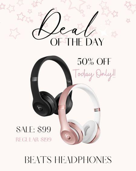 Beats headphones 50% off today only. Holiday gift idea. Gift guide  #LTKHoliday #LTKGiftGuide #LTKsalealert