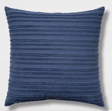 Threshold throw pillow, blue throw pillow    #LTKunder100 #LTKsalealert #LTKhome