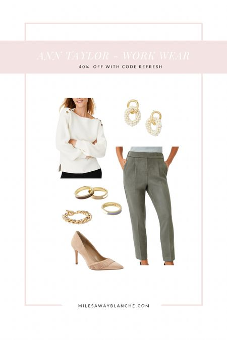 Ann Taylor workwear! I love Ann Taylor for workwear outfits. Everything fits so nice & is mid price range with sales!   #LTKworkwear #LTKsalealert #LTKunder100