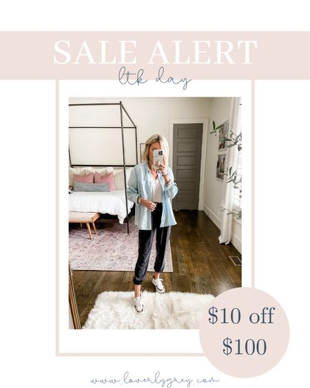 The perfect working from home or travel day look! Loverly grey is wearing small in all pieces.   #LTKSeasonal #LTKsalealert #LTKunder100
