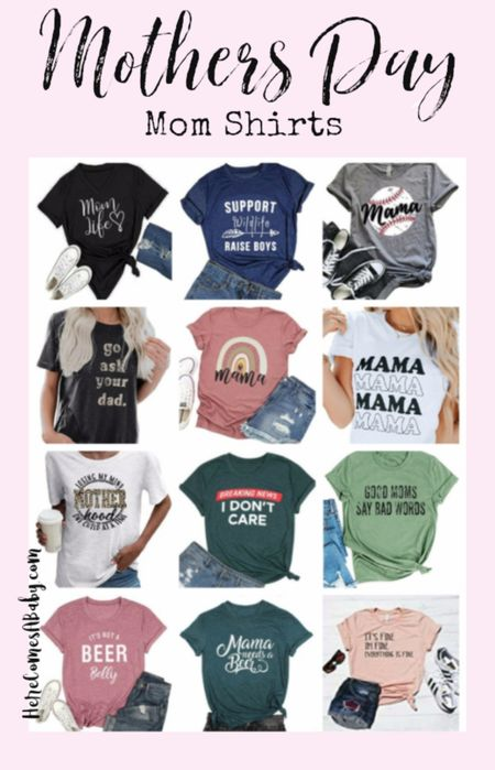 Last minute mom shirts for mothers day. These are some of my amazon favorites that are great for gifts. Mom fashion mom style. http://liketk.it/3eKSi #LTKSpringSale #LTKsalealert #LTKstyletip #LTKunder50 #LTKunder100 #LTKfamily #LTKbump #LTKbaby #LTKkids #LTKtravel @liketoknow.it @liketoknow.it.family #liketkit Screenshot or 'like' this pic to shop the product details from the LIKEtoKNOW.it app, available now from the App Store!