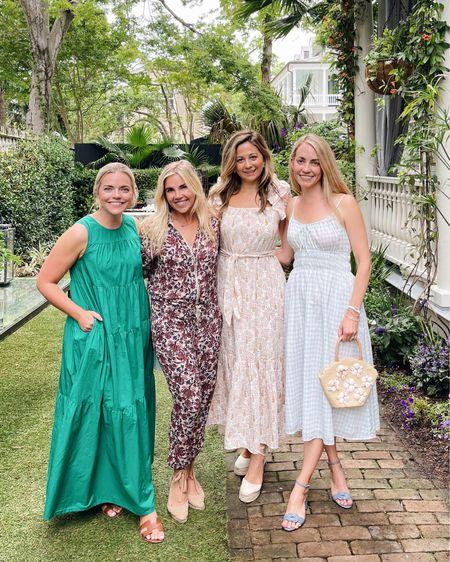 Last night in the prettiest blue and white gingham dress that's on sale! It's the perfect summer garden dress 💙 http://liketk.it/3gO5Y @liketoknow.it #liketkit #LTKsalealert #LTKstyletip