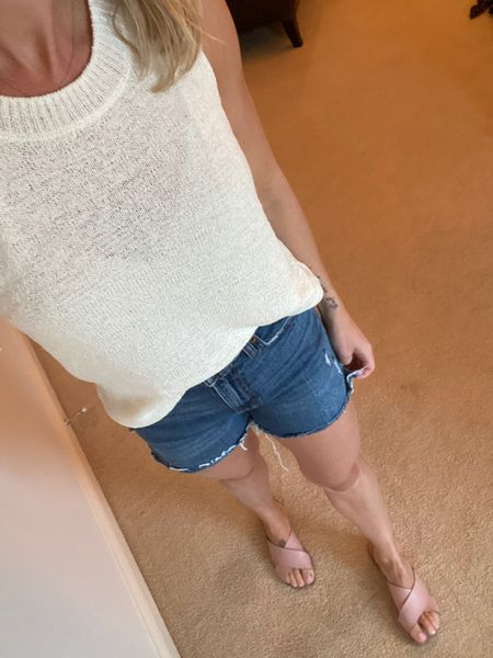 Sweater: $13 Jean shorts: $23   http://liketk.it/2WcaY   Shop my daily looks by following me on the LIKEtoKNOW.it shopping app #liketkit @liketoknow.it #LTKsalealert #LTKstyletip #LTKunder50
