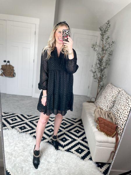 Walmart outfit  Tiered dress- medium    #LTKstyletip #LTKunder50 #LTKHoliday