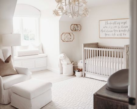 Reminiscing on when I designed Charlottes nursery. With baby number 2 on the way and diving head first into the planning; I can't help but look back on my first baby's nursery and get teary eyed 😭💕 I still get questions about Charlotte's nursery so I figured I would link with the exact products I used. If something isn't linked, look for her published nursery at https://projectnursery.com/projects/neutral-girly-perfection/  Her chandelier and ballerina picture were sold out so I linked similar options http://liketk.it/2Kkn0 #liketkit @liketoknow.it #LTKbaby #LTKbump #LTKfamily @liketoknow.it.family @liketoknow.it.home