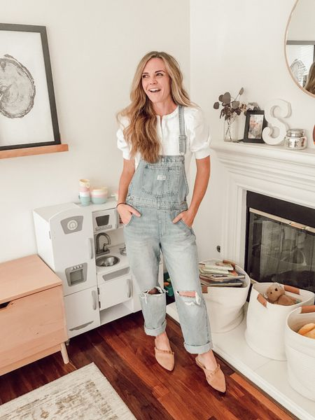 The perfect overalls don't ex—  Yes, yes they do exist. These vintage overalls are my new obsession and under $150. Wearing a small.   #LTKSeasonal
