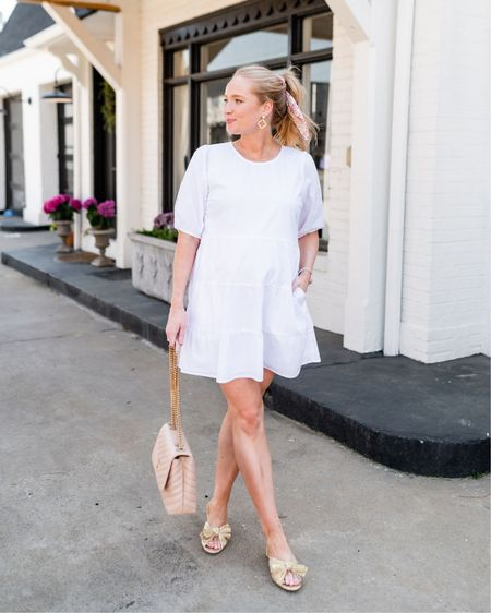 White dress on sale for #ltkday   Sized up to a medium for the bump but it's TTS http://liketk.it/3hyg3 #liketkit @liketoknow.it #LTKbump