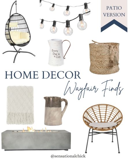 Wayfair home decor finds, outdoor home decor, neutral home decor, classy patio, simple outdoor decor   #LTKstyletip #LTKunder100 #LTKhome