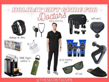 Holiday Gift Guide for Doctors Male Edition 👨🏻⚕️👨🏼⚕️👨🏽⚕️👨🏾⚕️👨🏿⚕️ #holidaygiftguide #giftguide #christmas #doctor #physician #giftsforhim #figsscrubs #nespresso #theragun #amazon #sunglasses #ugg #hydroflask http://liketk.it/33bK0 #liketkit @liketoknow.it #LTKgiftspo #LTKworkwear #LTKunder50