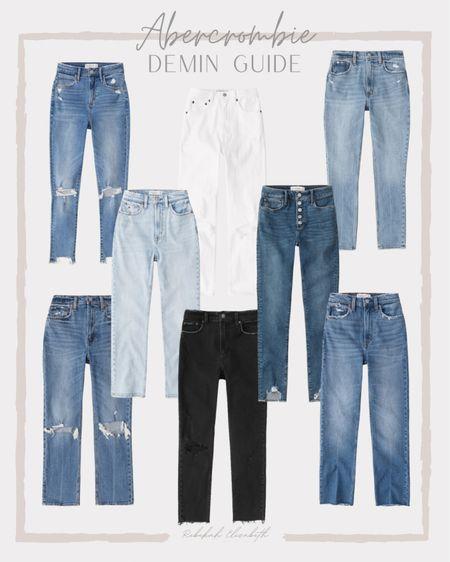 Favorite Abercrombie denim all on sale!! Ends today! curve love high rise skinny ankle • white ultra high rise denim • black high rise skinny jeans • ripped button front high rise #rebekahelizstyle #ltkunder100 #ltkstyletip  #LTKcurves #LTKsalealert #LTKSale