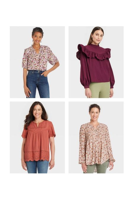 Target tops // target finds // target women's // fall outfit // fall fashion // family photos   #LTKunder100 #LTKSeasonal #LTKunder50