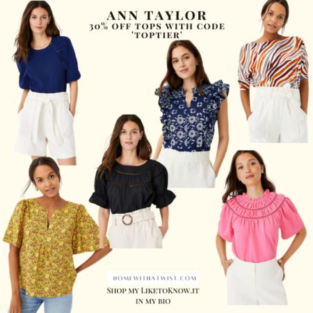 Ann Taylor is 30% off tops and sweaters online today. Perfect to grab some new work tops if you're headed back to the office soon! #anntaylor http://liketk.it/3hL5J #liketkit @liketoknow.it #LTKworkwear #LTKunder100 #LTKsalealert