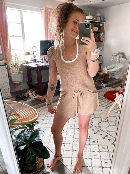 Wearing xs in top and S in shorts sooo comfy and totally gives me free people vibes.   #LTKstyletip #LTKunder50 #LTKsalealert