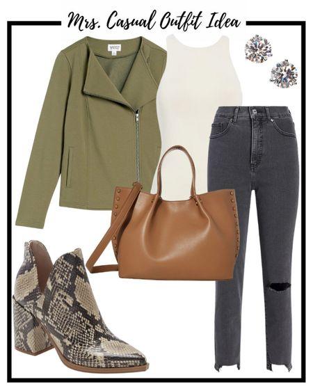 Amazon olive moto jacket   #LTKunder50 #LTKshoecrush #LTKstyletip