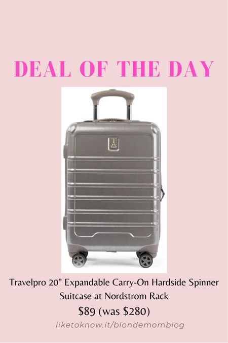 Who's ready to travel this summer! I know I am. Need new luggage? This is a great deal on a rolling hard case suitcase! ✈️   #luggage #travel #suitcase #nordstromrack   #LTKsalealert #LTKtravel #LTKSeasonal