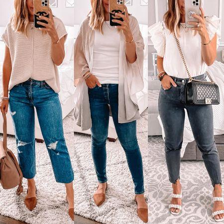 Straight, skinny and mom jeans I'm loving for Fall  #LTKunder50 #LTKsalealert #LTKshoecrush