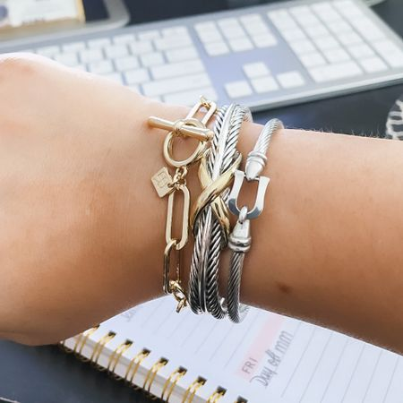 When your stack is under $50 🙌🏼   Love mixing gold and silver tones together   http://liketk.it/3fMdx #liketkit @liketoknow.it #LTKunder50 #LTKstyletip #LTKsalealert