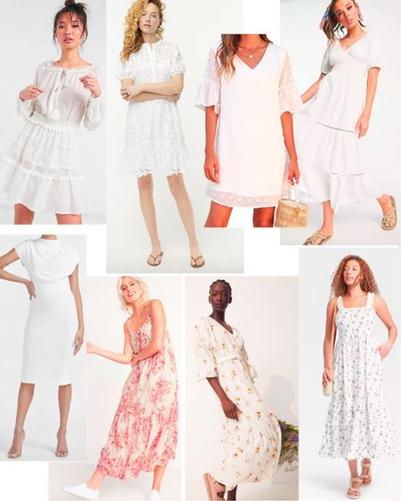 Everyone needs a white dress for summer! We adore white eyelet dresses, white maxi dresses, white floral dresses and white cotton sun dresses. Get the look for less.   #LTKSeasonal #LTKstyletip #LTKunder50