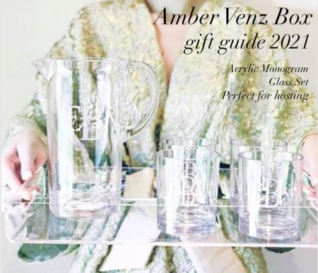 House parties are having a come back and personalized gifts always win the day. Snag these under $50 glasses and add a monogram or a cute phrase or zip code. Be creative!  #LTKHoliday #LTKhome #LTKGiftGuide