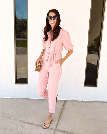 The jumpsuit of my dreams! It's currently 30% off + an additional $25 off at checkout with code LTKDAY!! Wearing a S for reference @liketoknow.it #liketkit http://liketk.it/3hq9u #LTKunder100 #LTKDay #LTKsalealert