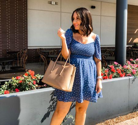 Abercrombie has 25% off with code LTKAF2021!! This blue and white polka dot dress is one of my favorites! I love the way it fits. Runs tts.   #LTKSale #LTKsalealert #LTKunder50
