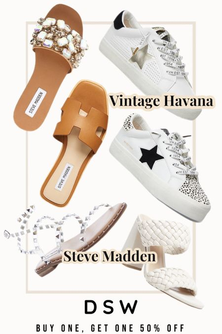 DSW Shoe Sale! 👡👟 BUY ONE, GET ONE 50% OFF! ✨ Steve Madden and Vintage Havana sneaks are included in the discount! 🎉 code: BOGONOW http://liketk.it/3bsNB #liketkit @liketoknow.it #LTKSpringSale #LTKsalealert #LTKshoecrush Shop your screenshot of this pic with the LIKEtoKNOW.it shopping app