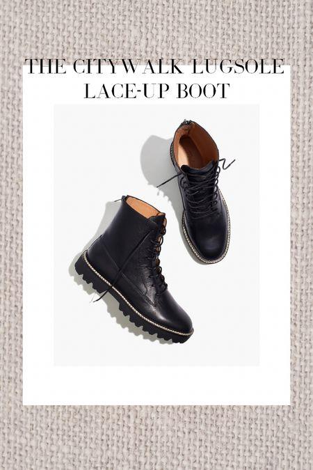 Madewell lace up boot!   #LTKshoecrush #LTKSeasonal