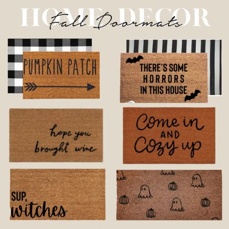 So many cute doormat options for fall and Halloween! Fall home decor, Halloween decorations, fall doormats   #LTKSeasonal #LTKhome #LTKHoliday