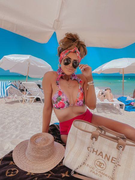 http://liketk.it/3gsHn #liketkit @liketoknow.it #LTKtravel #LTKswim #LTKstyletip swim, bathing suits, vacation outfits, beach vacation, beach bag, swimsuit, bikini, sunglasses, beach hat, Emily Ann Gemma