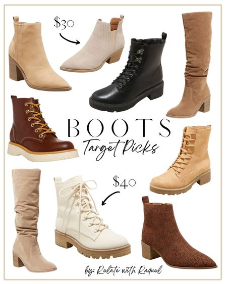 Fall and winter boot picks from Target.   #falllooks #boots #bootseason #shoes #falloutfits #fallboots #winterboots   #LTKunder100 #LTKunder50 #LTKshoecrush