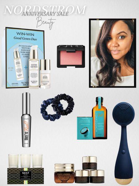 Nordstrom Anniversary Sale Beauty Sunday Riley Good Genes Estee Lauder Night Repair Eye Cream Morrocanoil Hair Treatment NARS Orgasm Blush Duo PMD Facial Cleansing Device Benefit They're Real Mascara  #LTKsalealert #LTKbeauty #LTKunder50 #LTKunder100 #liketkit @liketoknow.it http://liketk.it/3jJoL