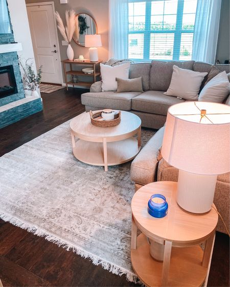 Living room rug from RugsUSA. Target coffee table. Hearth and Hand entry table. #liketkit @liketoknow.it http://liketk.it/3jJwi #LTKhome