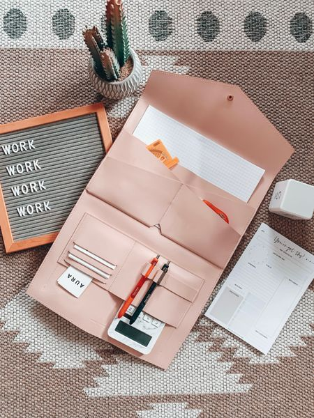 Work essentials 🌿✨ My blush portfolio with rose gold hardware is now available at Walmart for $65!! I paid double that 💀   Shop my daily looks by following me on the LIKEtoKNOW.it!! 💗 http://liketk.it/39vr1 #liketkit @liketoknow.it #LTKunder100 #LTKworkwear #LTKsalealert    blush portfolio, pink portfolio, blush pink portfolio, blush business clutch, pink business clutch, glass ladder Megan, glass ladder Megan portfolio, glass ladder blush pink, xl Megan portfolio, Megan portfolio, leather business clutch, business organizer, blush pink business clutch, blush leather portfolio, pink leather portfolio, nude leather portfolio, leather portfolio, folding portfolio, portfolio pockets, portfolio button, portfolio snap, feminine portfolio, feminine business accessories, feminine business tote, business tote, interior design folder, interior design binder, interior design tote, interior designer starter kit, interior designer essentials, interior designer tools, interior designer must haves, interior designer office, office flatlay, interior design office supplies, interior designer supplies, daily planner pad, daily planner, blush pink office accessories, blush office accessories, nude office accessories, beige portfolio, rose gold portfolio, rose gold binder, rose gold folder, blush pink folder, pink folder, blush folder, vegan leather portfolio, clutch snap closure, pink work bag, blush work bag, nude work bag, beige work bag, pink work tote, blush work tote, blush pink work bag, blush pink work tote, timer cube, office desk essentials, feminine office accessories, office timer, desk timer, kitchen timer, Safavieh Augustine rug, Safavieh tribal rug, neutral tribal rug, neutral portfolio, neutral leather portfolio, pleather portfolio, faux leather portfolio, bliss collection, bliss collections planner, bliss collections daily planner, 6x9 planner, 6x9 planner pad, document folder, document portfolio,