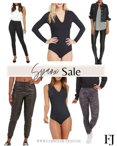 Spanx sale 👌🏼 #spanx Leggings Body suit Faux leather Vegan leather   #LTKfit #LTKsalealert #LTKstyletip