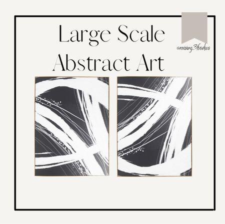 Large scale abstract art from TJ Maxx. #homedecor #art #livingroom #bedroom #entryway #decor   #LTKhome #LTKsalealert #LTKunder100