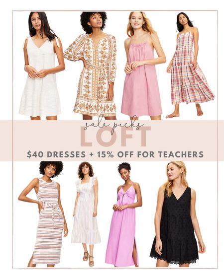 Run, all dress at LOFT are $40, plus teachers can take and extra 15% off!   #LTKstyletip #LTKsalealert #LTKunder100