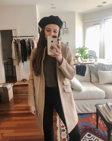 Here's what I'm wearing in my try on: Jcrew Cocoon coat (runs big!) tissue turtleneck (runs TTS, wearing a small here) I have this in so many colors and also linking in black! Everlane cirgarette stretch jeans-amazing and run TTS! http://liketk.it/2xV88 #liketkit @liketoknow.it