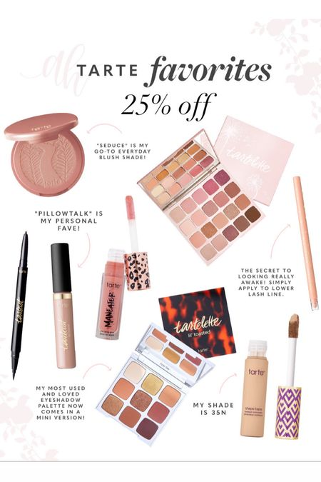 Tarte products 25% off during the LTK sale, early gifting sale, beauty products on sale   #LTKbeauty #LTKsalealert #LTKSale