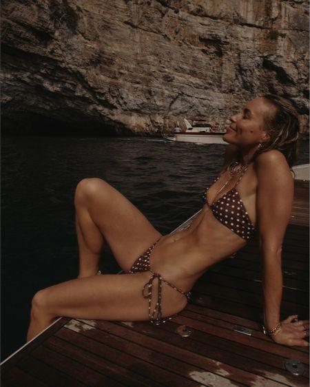 Polka dot bikini 🤎🤎  #LTKswim #LTKtravel #LTKeurope