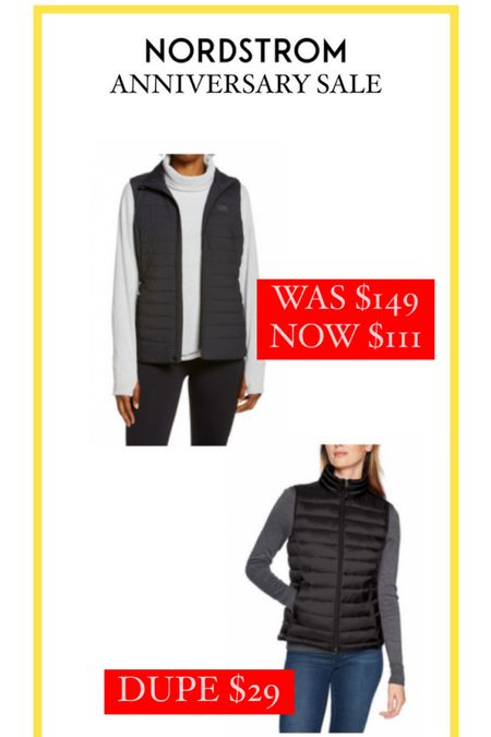 Nordstrom Anniversary Sale // Love wearing a vest during the fall are a layering piece to keep warm! Found a $29 dupe on Amazon! http://liketk.it/3jTSM #liketkit @liketoknow.it #LTKsalealert #LTKunder50 #LTKstyletip