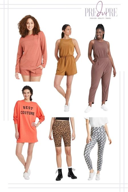 With the cooler fall weather coming in, the more you want to just lounge in some comfy wear. Check out my Target lounge and leisure wear finds. All under $50!  Lounge wear, lounge set, sweater, shorts, romper, jumpsuit, sweater dress, Halloween, Halloween themed, leopard biker shorts, biker shorts, snake print, jean leggings, jeggings, leggings, fall outfit, ootd, ootd ideas, outfit ideas, fall wear   #LTKunder50 #LTKSeasonal #LTKstyletip