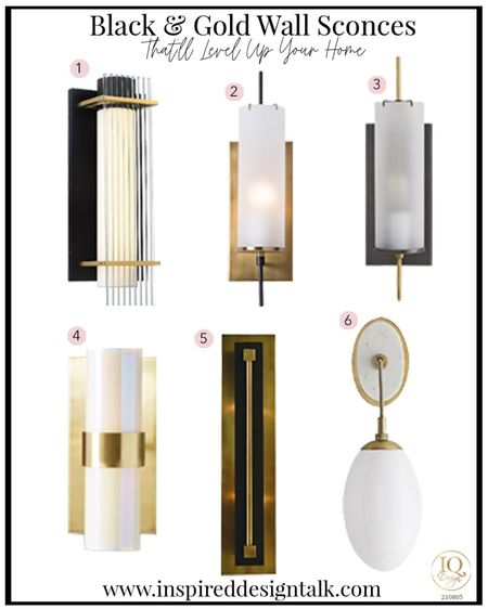 Awesome modern wall sconce for the bathroom, living room, bedroom and more!  Black and gold lighting  Bathroom sconce  Bathroom sconces, bathroom decor, bathroom inspiration, living room sconce, lighting, lighting ideas, wall sconce, living room decor, bedroom decor, bedroom inspiration, master bathroom and more.   You can instantly shop my looks by following me on the LIKEtoKNOW.it shopping app   #LTKfamily #LTKhome #LTKstyletip