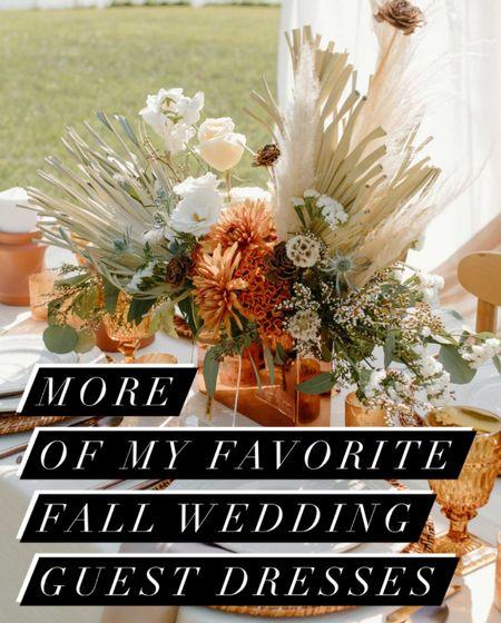 MORE of my favorite fall wedding guest dresses.  Weddings, style, fall, style, evening @shopltk  #LTKwedding #LTKstyletip #LTKSeasonal