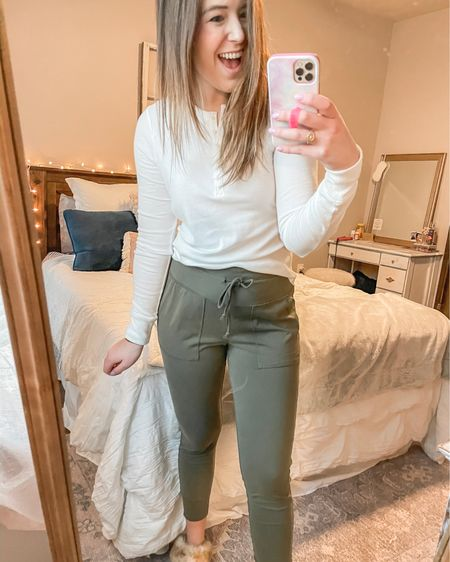 These are a mix between joggers and leggings. I sized up! http://liketk.it/39r6f #liketkit @liketoknow.it