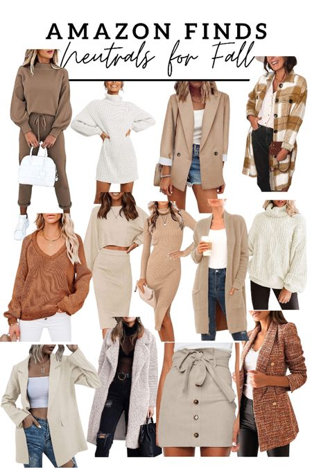Amazon finds! Rounded up all of my favorite neutrals for the cutest fall outfits! Shacket/boots/fall dress   #LTKshoecrush #LTKstyletip #LTKunder50