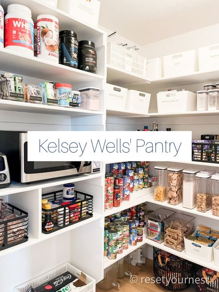 Shop Kelsey Wells' Pantry look! Organized and styled by the Reset Your Nest team! http://liketk.it/3laLG @liketoknow.it #liketkit #LTKhome #LTKfamily #LTKfit @liketoknow.it.home @liketoknow.it.family