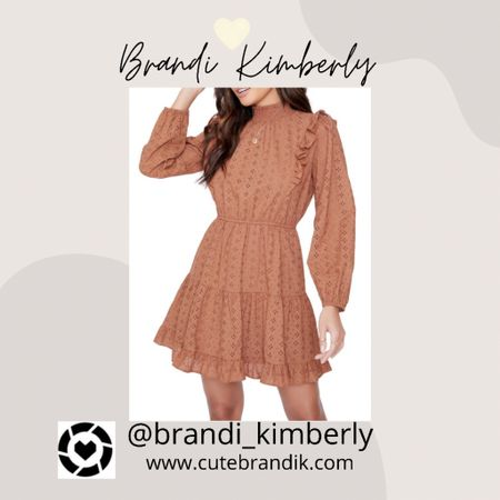 Such a cute eyelet dress and the color is perfect for fall vibes   #LTKbacktoschool #LTKSeasonal #LTKstyletip